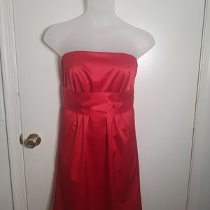 New York and Company Red Strapless Cocktail Dress